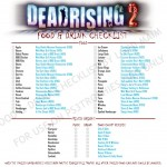 "Dead Rising 2: Food & Drink Checklist For ""Finally Full"" Achievement/Trophy"