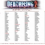 Dead Rising 2: Weapons Achievement & Trophy Checklists