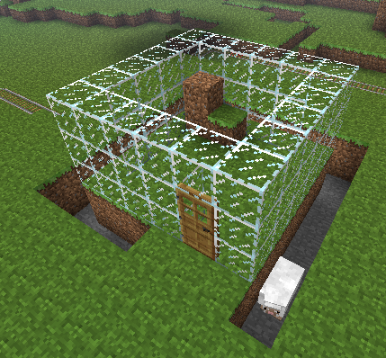 Minecraft: Making a monster trap glass house