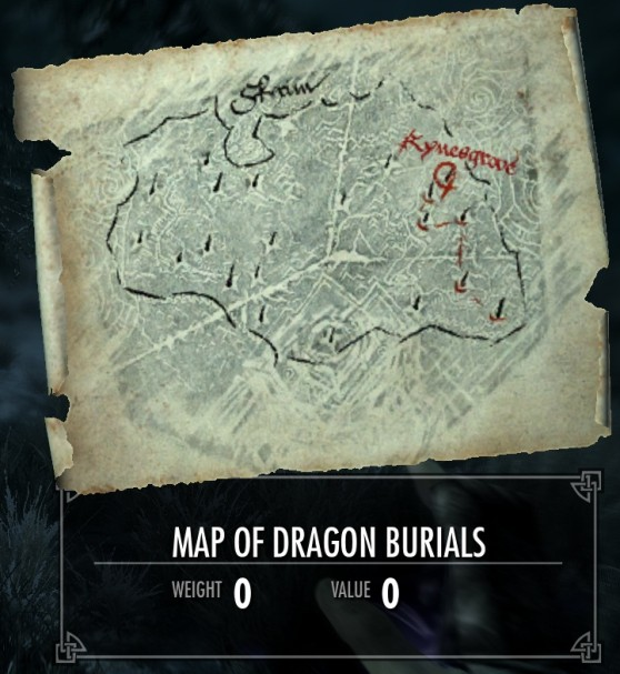 The Elder Scrolls V: Skyrim - Dragon Burial Site Locations
