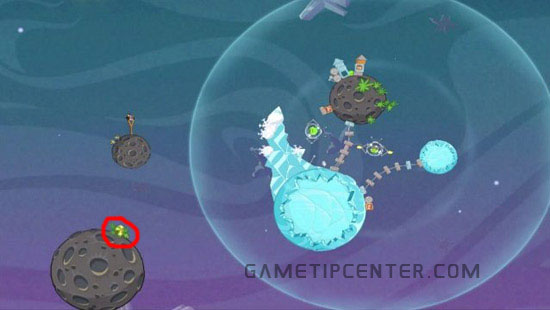 Angry Birds Space: Hidden golden egg for eggsteroids in world 2-13