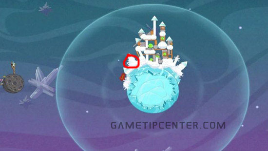 Angry Birds Space: Hidden golden egg for eggsteroids in world 2-28