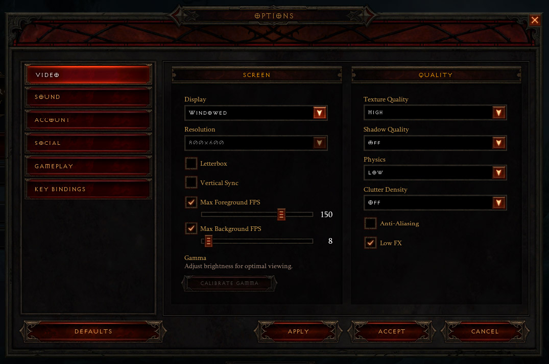 Diablo 3: Tips to decrease video lag