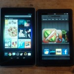 Google Nexus 7 vs. Kindle Fire – Hands on Comparison, Which is Better?