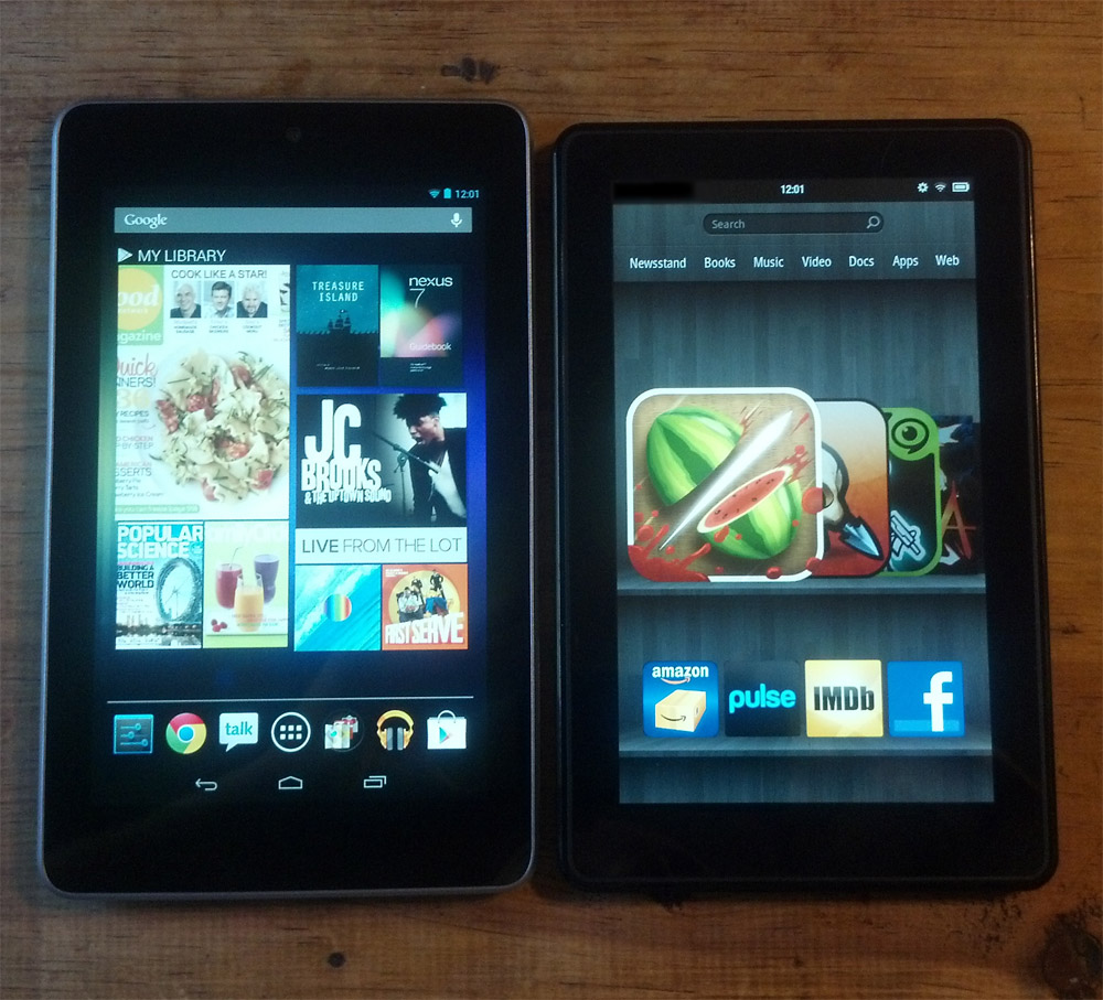 Google Nexus 7 vs. Kindle Fire - Which is better?