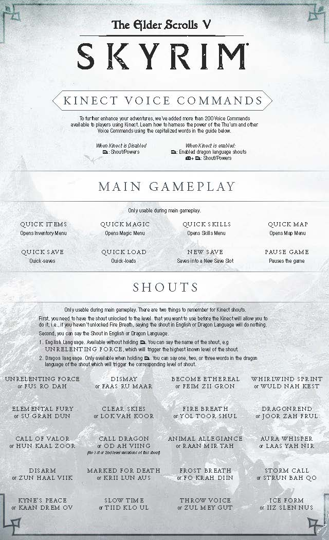 Skyrim: How to use voice commands - page 1