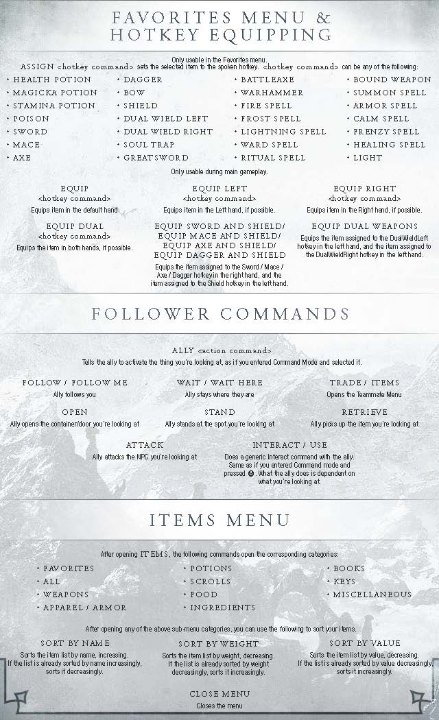 Skyrim: How to use voice commands - page 2