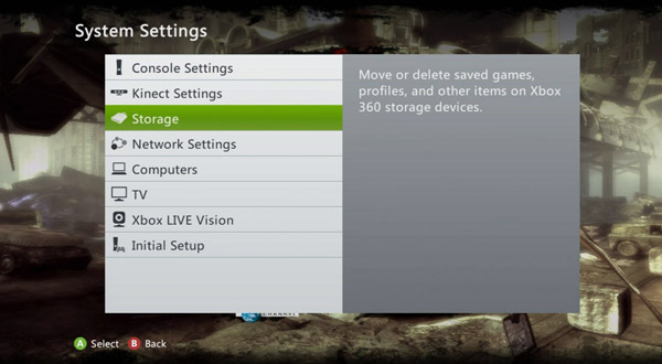 How to clear the system cache on Xbox 360