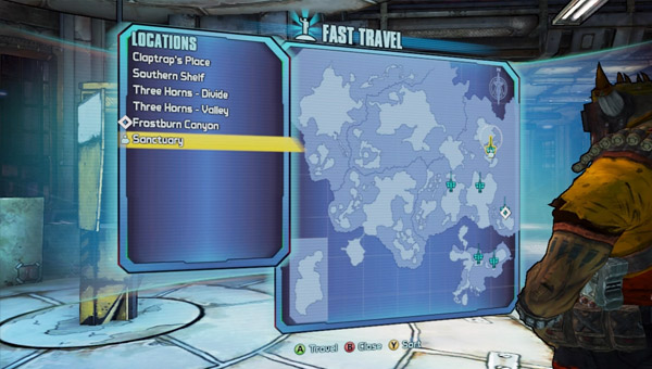 How to fast travel in Borderlands 2