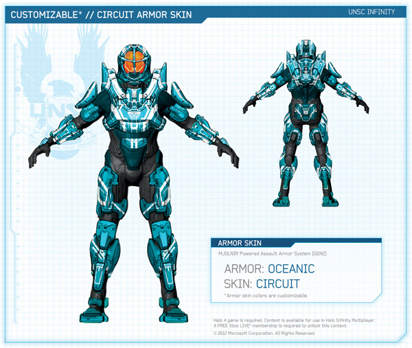How to get the Oceanic Armor & Circuit Skin in Halo 4