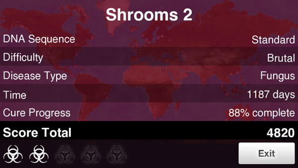 How to beat Fungus on Brutal in Plague Inc