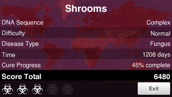 How to beat Fungus on Normal in Plague Inc
