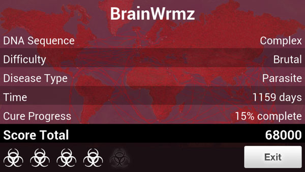 Parasite on Brutal in Plague Inc.
