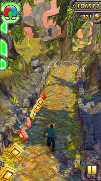 How to activate powerups in Temple Run