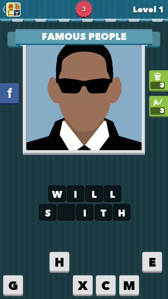 Icomania Level 1 Answers - Will Smith