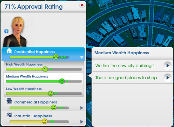 How to increase happiness in SimCity 5