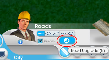 How to upgrade road in SimCity 5