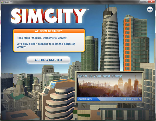 How to skip the getting started tutorial in SimCity - Getting Started