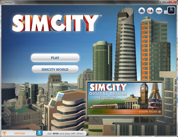 How to skip the getting started tutorial in SimCity - Play button