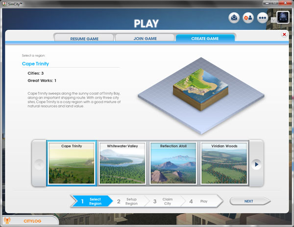 How to skip the getting started tutorial in SimCity - Create a Region