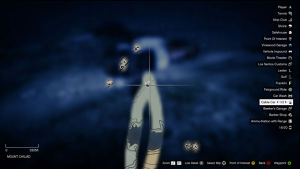 Parachute location in Grand Theft Auto 5