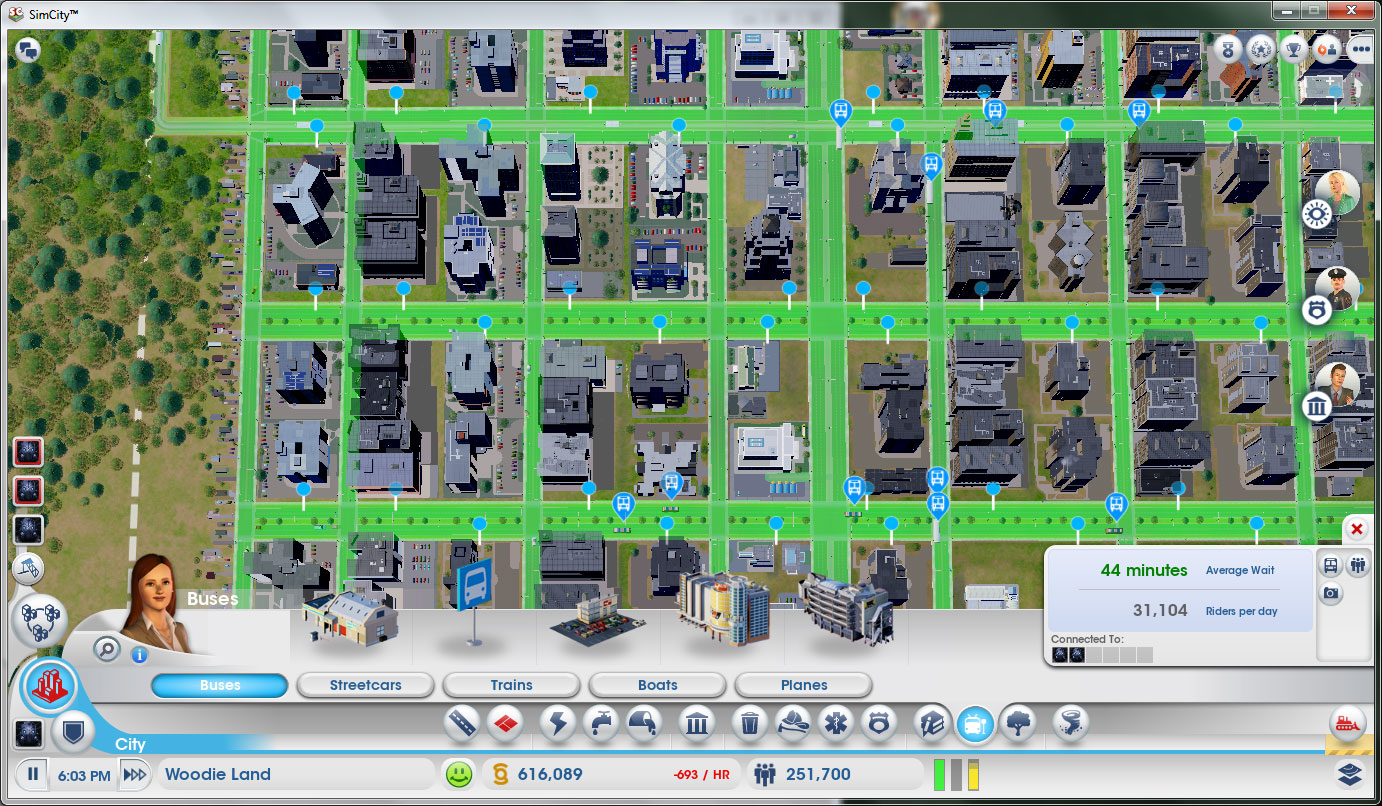 SimCity 5 Bus Layout