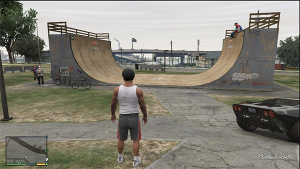 Half pipe location in Grand Theft Auto 5 and GTA Online