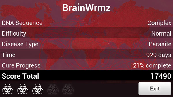 How to beat Parasite on Normal in Plague Inc.