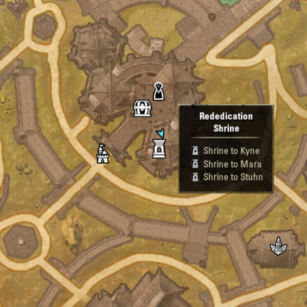Rededication shrines to reset your skill points in The Elder Scrolls Online