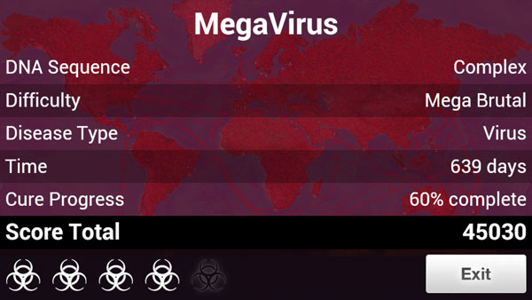 Plague Inc - Virus on Mega Brutal